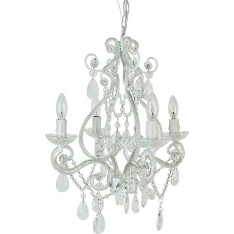 Small Hanging Chandelier by Tadpoles 4 Light White Mini Chandelier Cchapl410 The