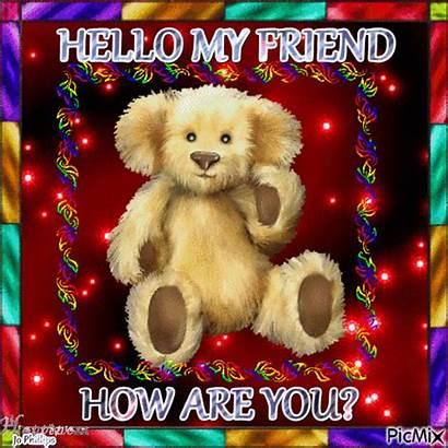 Hello Friend Teddy Morning Bear Gifs Animated