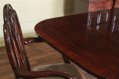 traditional formal red mahogany dining table seats  people