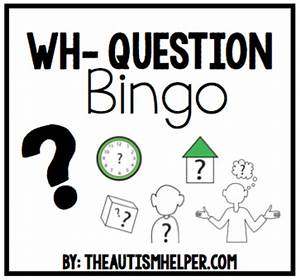 Job Skill Worksheets Wh Question Bingo Teaching Resources