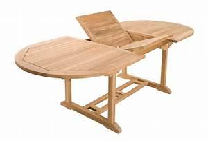 Table Teck Jardin : salon de jardin en teck sumbara 4 1 table ovale extensible et 6 chaises ~ Teatrodelosmanantiales.com Idées de Décoration
