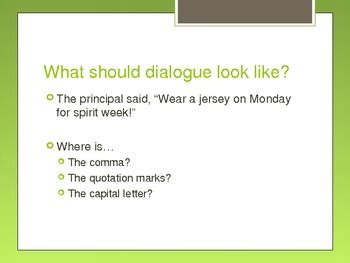 quotation marks  dialogue powerpoint  hooray