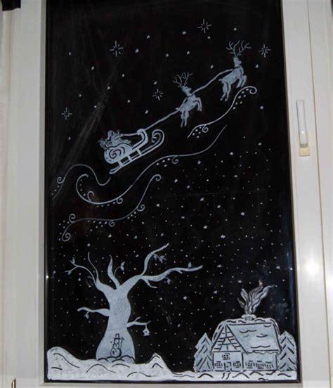 Fensterdeko Weihnachten Selbst Gemacht by Apfelkiste Netfensterbilder Mit Kreidestifte Weihnachten