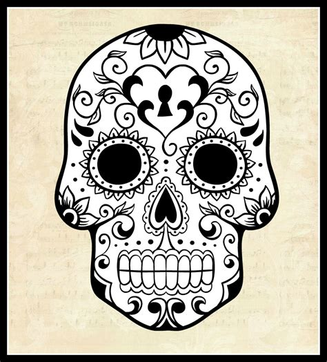 sugar skull template s almost purrfect world el dias do los muertos the day of the dead