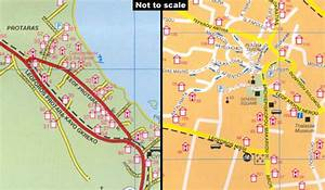 Agia Napa, Protaras, Paralimni Pocket Map Stanfords