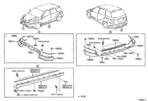 Toyota Matrix Parts by 2005 Toyota Matrix Spoiler Rear Spoiler Rr L Color