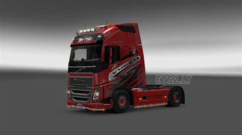 red volvo truck volvo skin ets 2 mods part 4