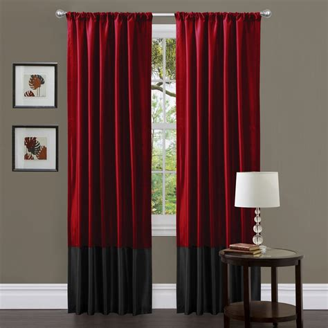 Red And Grey Curtains For Living Room Curtain