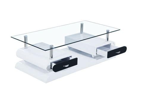 petit meuble cuisine pas cher table basse acacia blanc noir laquee verre table basse