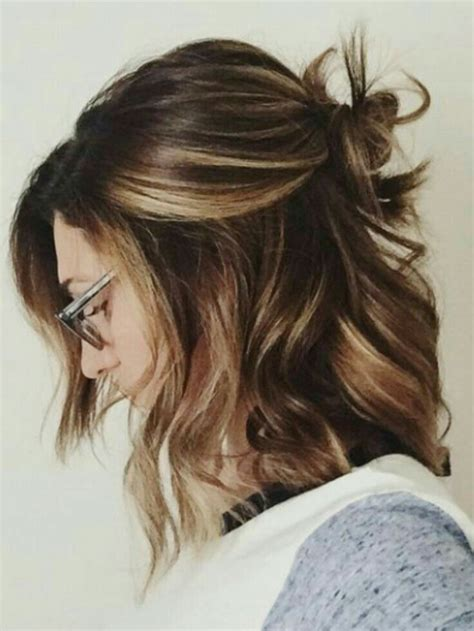 easy styles for hair brown with highlights hair