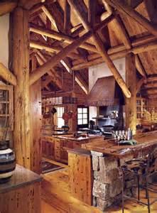 Log Cabin Kitchen Island Ideas cabinets luxury log home kitchen etc kit9690 custom
