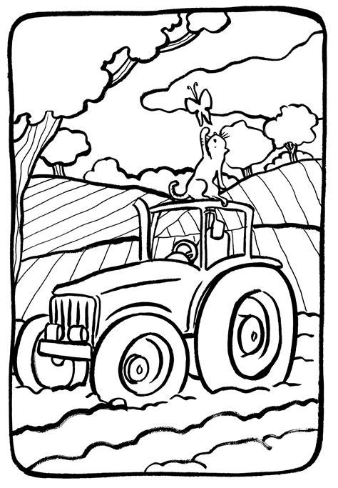 dessins de coloriage tracteur gratuit  imprimer