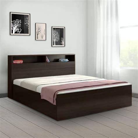 buy alex engineered wood box storage king size bed  dark