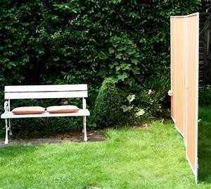 mobile sichtschutz paravents stabile stellwande fur With französischer balkon mit garten stellwand