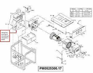 Powermate Genset 5500  6875  Model  Pm0525300 17  W