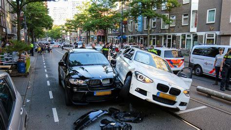 automobilist crasht  rotterdam na gebruik lachgas rtl nieuws
