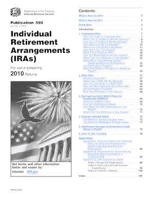 2010 publication 590 fill printable fillable blank pdffiller