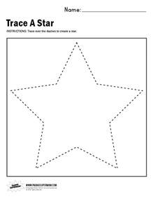 Star Tracing Worksheets