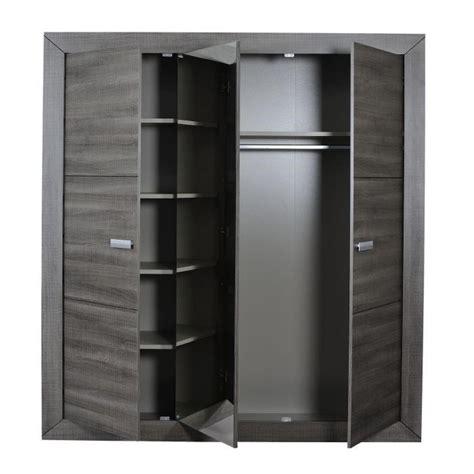 porte de chambre en bois pas cher avignon armoire 3 portes coloris bois gris achat vente