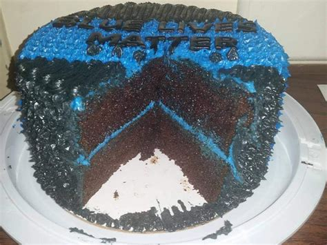 blue lives matter blue  police support cake thin