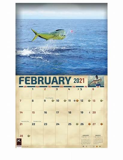 Calendar Saltwater Fishing Calendars Monster Water Salt