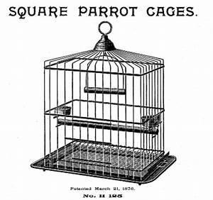 Vintage Clip Art - Fabulous Bird Cage - The Graphics Fairy
