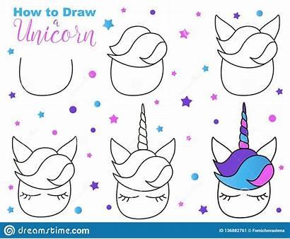 Unicorn Draw Kawaii Easy Faciles Dibujar Unicornio