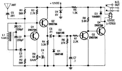 Simple Relay Output Proximity Sensor Circuit Diagram