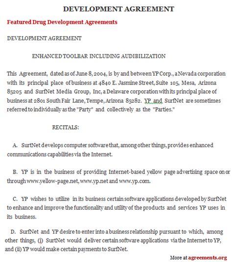 development agreement  word  agreementsorg