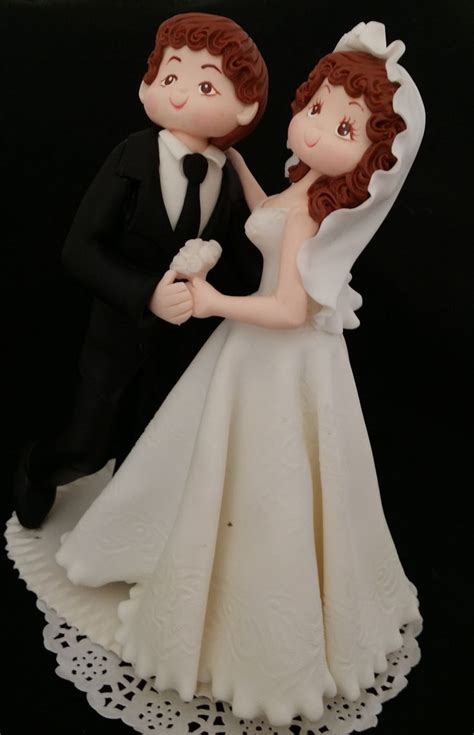 Personalized Wedding Cake Topper Bride Groom Cake Bride
