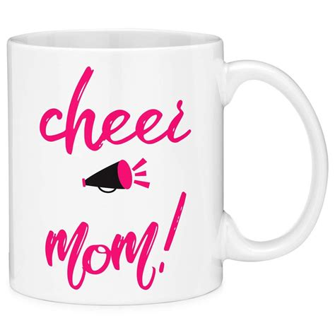 High quality coffee funny sayings inspired mugs by independent artists and designers from around the world. Mugvana Cheer Mom Pink Quote Coffee Mug Cup Fun Novelty Gifts | Mugs, Gift quotes, Pink quotes