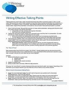 Writing Effective Talking Points by Writing Center - Issuu
