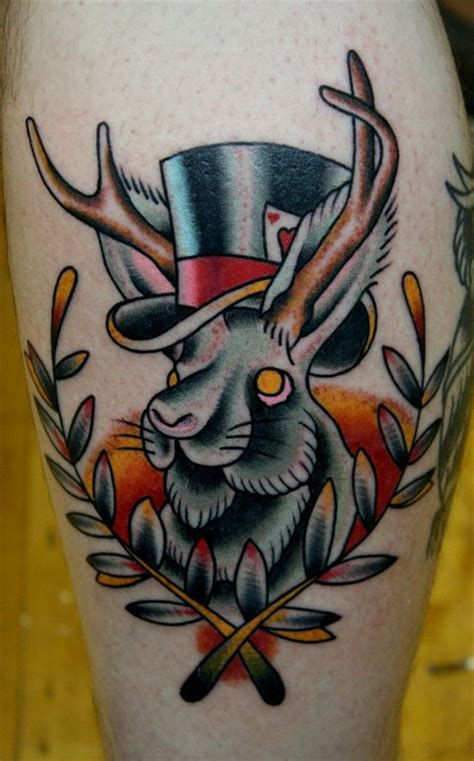 unique jackalope tattoos