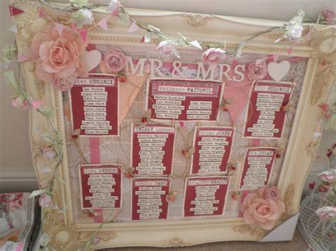 shabby chic table plan theme vintage shabby chic pretty weddings
