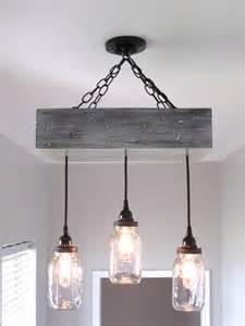 Rustic Mason Jar Ceiling Light
