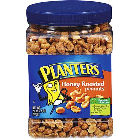 honey roasted peanuts planters honey roasted party size peanut 34 5 oz walmart com