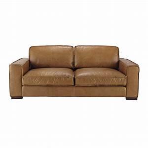Couch 3 Sitzer Leder : vintage sofa 3 sitzer aus leder camelfarben colonel maisons du monde ~ Bigdaddyawards.com Haus und Dekorationen