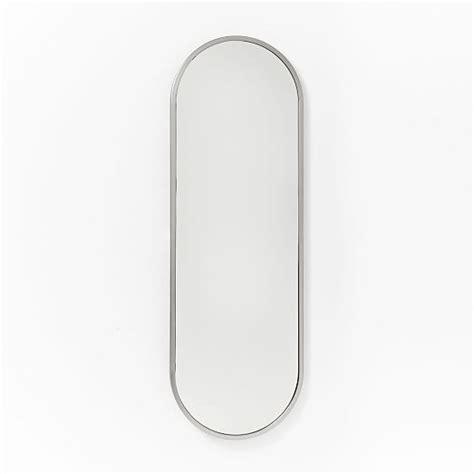 floor mirror oval metal framed oval floor mirror west elm