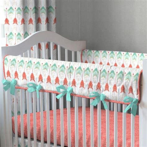 arrow crib bedding coral and teal arrow crib bedding carousel designs