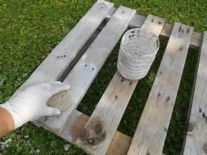 Eponge Pour Peindre : tutoriel table basse en palettes de r cup ration femme2decotv ~ Preciouscoupons.com Idées de Décoration