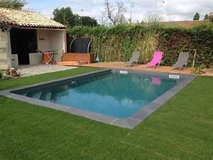 Margelle Piscine Grise : photos piscine liner gris anthracite recherche google ~ Melissatoandfro.com Idées de Décoration