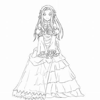 Princess Anime Drawing Lineart Rain Yuki Drawings