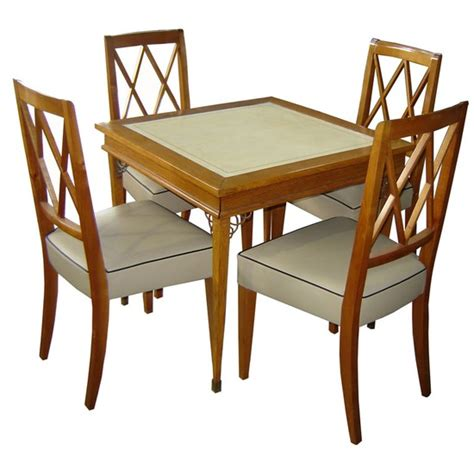 Wood Card Table And Chairs Set Marceladickcom
