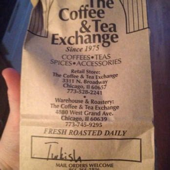 Check out their menu for some delicious coffee. The Coffee & Tea Exchange - 53 Photos & 209 Reviews - Coffee & Tea - 3311 N Broadway, Lakeview ...