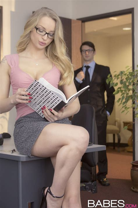 Blonde Office Girl Seduces And Fucks Her Sexy Co Worker