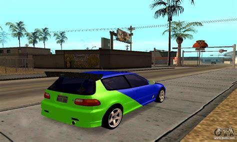 Honda Civic Eg6 Tunable For Gta San Andreas