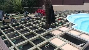 plage piscine terrasse bois essonne youtube With deco de jardin exterieur 4 decoration autour cheminee