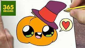 Dessin Facile Halloween : comment dessiner citrouille kawaii tape par tape ~ Melissatoandfro.com Idées de Décoration