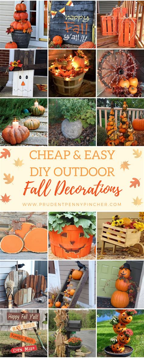 cheap  easy diy outdoor fall decorations prudent