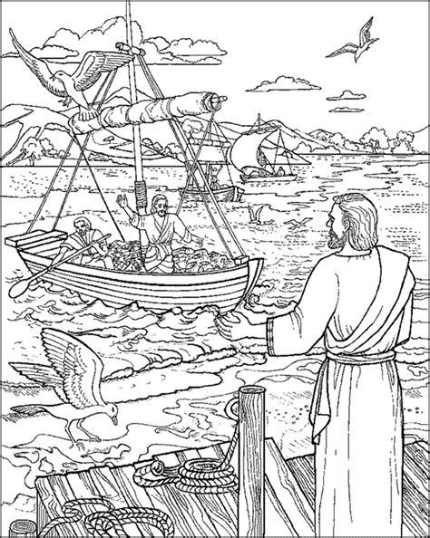 evangeliza desenhos  colorir jesus   pesca
